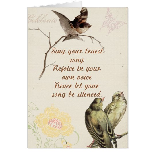 Motivational Song Birds Card