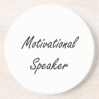 Motivational Speaker Artistic Job Design Drink Coasters