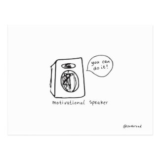 motivational speaker postcard
