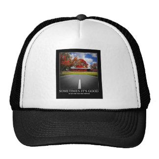 Motivational theme mesh hat