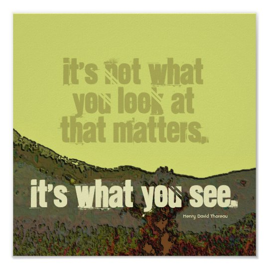 motivational Thoreau quote Poster