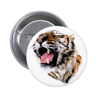 Motivational Tiger Face 6 Cm Round Badge