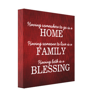 Motivational Typography Family Quote Canvas Print