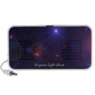 Motivational Universe Light Quote Portable Speakers