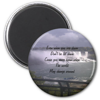 motivational upliftment 6 cm round magnet