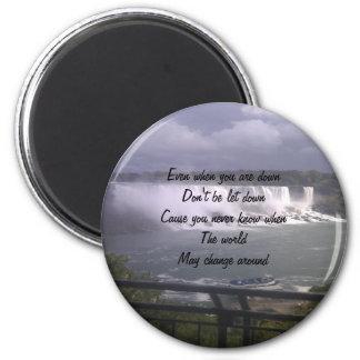 motivational upliftment 6 cm round magnet