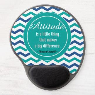 Motivational  Winston  Churchill Quote Gel Mouse Mat