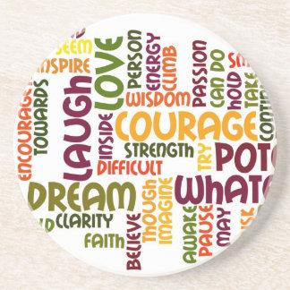 Motivational Words #1 Coasters