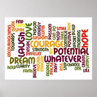 Motivational Words #1 positive encouragement Poster