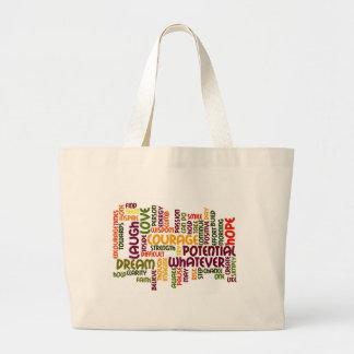 Motivational Words #1 Positive Influence! Jumbo Tote Bag