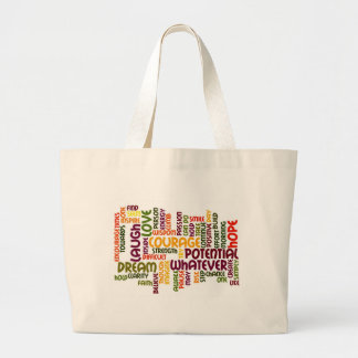 Motivational Words #1 Positive Influence! Large Tote Bag
