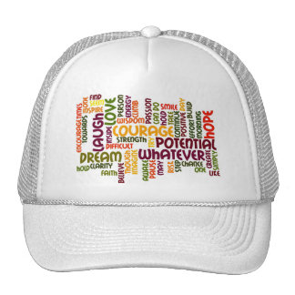 Motivational Words #1 truckers hat
