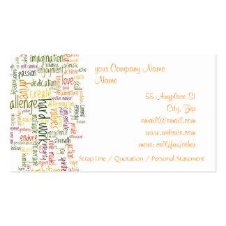 Motivational Words #2 Pack Of Standard Business Cards