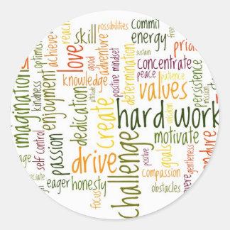 Motivational Words #2 positive attitude Round Sticker