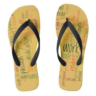 Motivational Words #2 positive encouragement Flip Flops