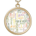 Motivational Words #2 positive encouragement Round Pendant Necklace