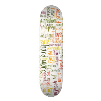 Motivational Words #2 skatedecks 21.3 Cm Mini Skateboard Deck