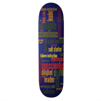 Motivational Words #4 positive values 21.6 Cm Skateboard Deck