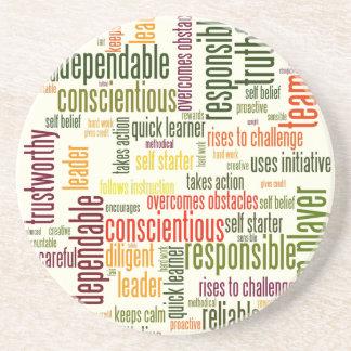 Motivational Words #4 positive values Beverage Coasters