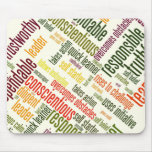 Motivational Words #4 positive values Mouse Pad