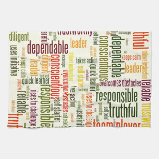 Motivational Words #4 positive values Tea Towel