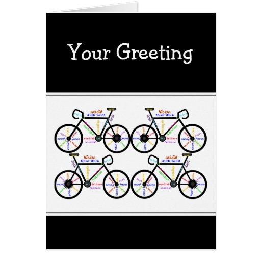 Motivational  Words about Bike Bmx Mountain Biking Card