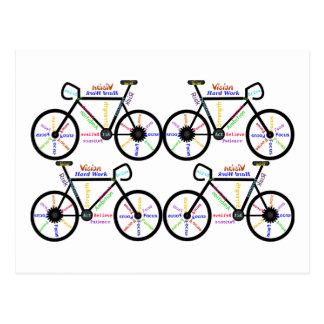 Motivational Words about Bike Bmx Mountain Biking Post Card