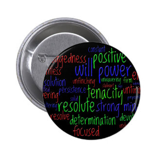 Motivational Words for New Year, Positive Attitude 6 Cm Round Badge