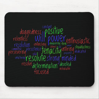 Motivational Words for New Year, Positive Attitude Mouse Pad