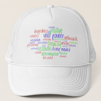 Motivational Words for New Year, Positive Attitude Trucker Hat