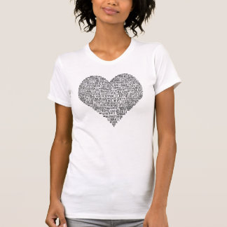 Motivational Words Heart Chiropractic T-Shirt