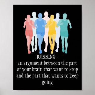 Motivational Words, Running Brain Argument Poster