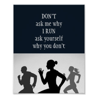 Motivational Words, Running Quote Poster