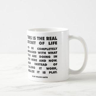 Motivational Words - Secret of Life - Alan Watts Basic White Mug