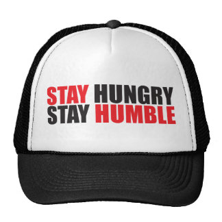 Motivational Words - Stay Hungry, Stay Humble Cap