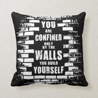 Motivational Words - Walls - Workout Motivational Cushion