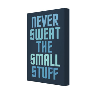 Motivational wrapped canvas print