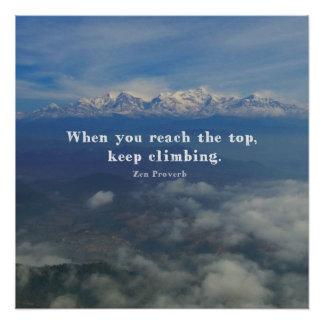 Motivational Zen Proverb about Challenges