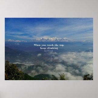 Motivational Zen Proverb about Challenges Poster