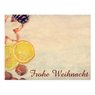 Motive for Christmas with fruits… Postcard