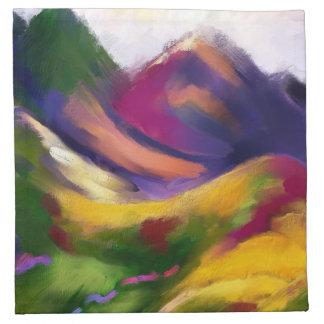 Motley Mountains Cloth Napkins