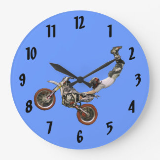 moto cross wallclocks