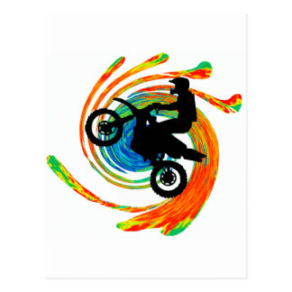 Moto Lets Swirve Postcard