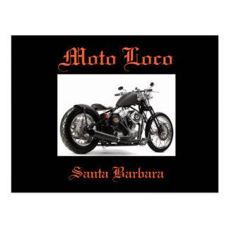 Moto Loco Harley Davidson Santa Barbara Postcard