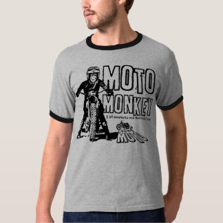 Moto Monkey (black) T-Shirt
