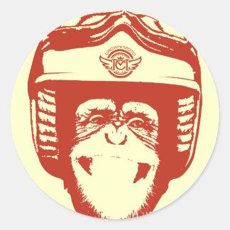 Moto Monkey Sticker (red)