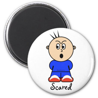 "Moto ""scared"" magnet"