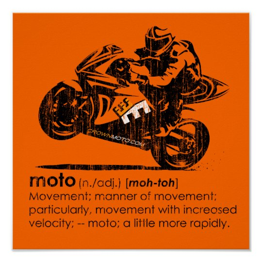 MOTO - The Definition (vintage) Poster
