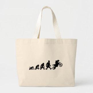 moto trial enduro large tote bag