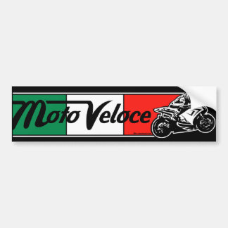 Moto Veloce Bumper Sticker Car Bumper Sticker